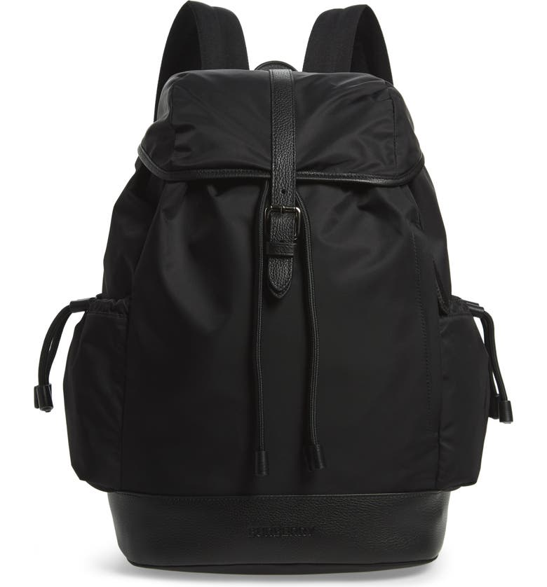 BURBERRY Watson Diaper Backpack, Main, color, 001
