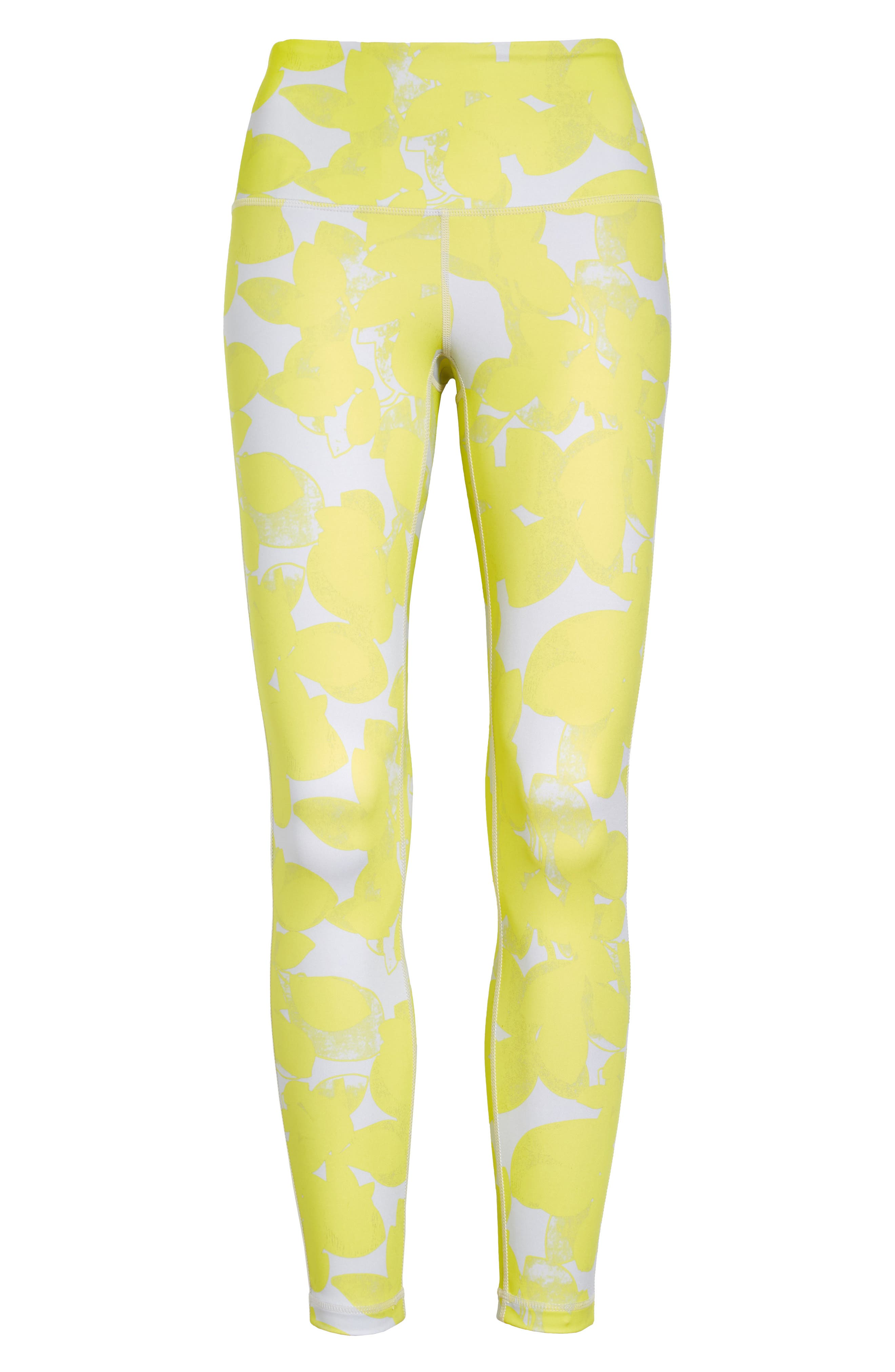 Hike your favorite trail or strike a yoga pose in high-waisted performance leggings featuring a bold print and a just-cropped length. Style Name: Zella Studio High Waist 7/8 Leggings. Style Number: 5822790. Available in stores.
