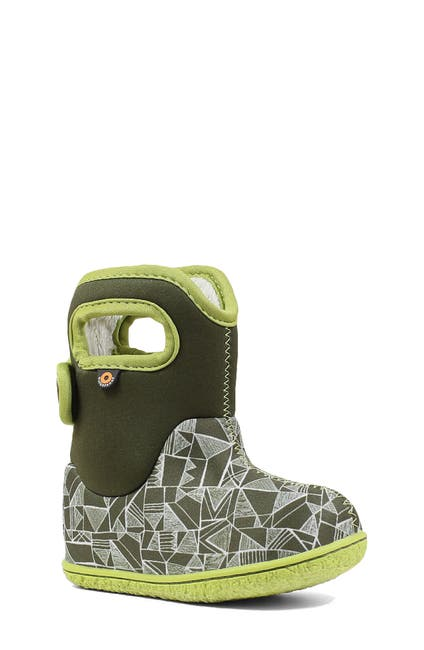 Image of Bogs Maze Geo Waterproof Faux Fur Boot