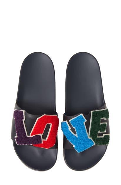 Tory Sport Sandals STUDDED LOVE SLIDE SANDAL