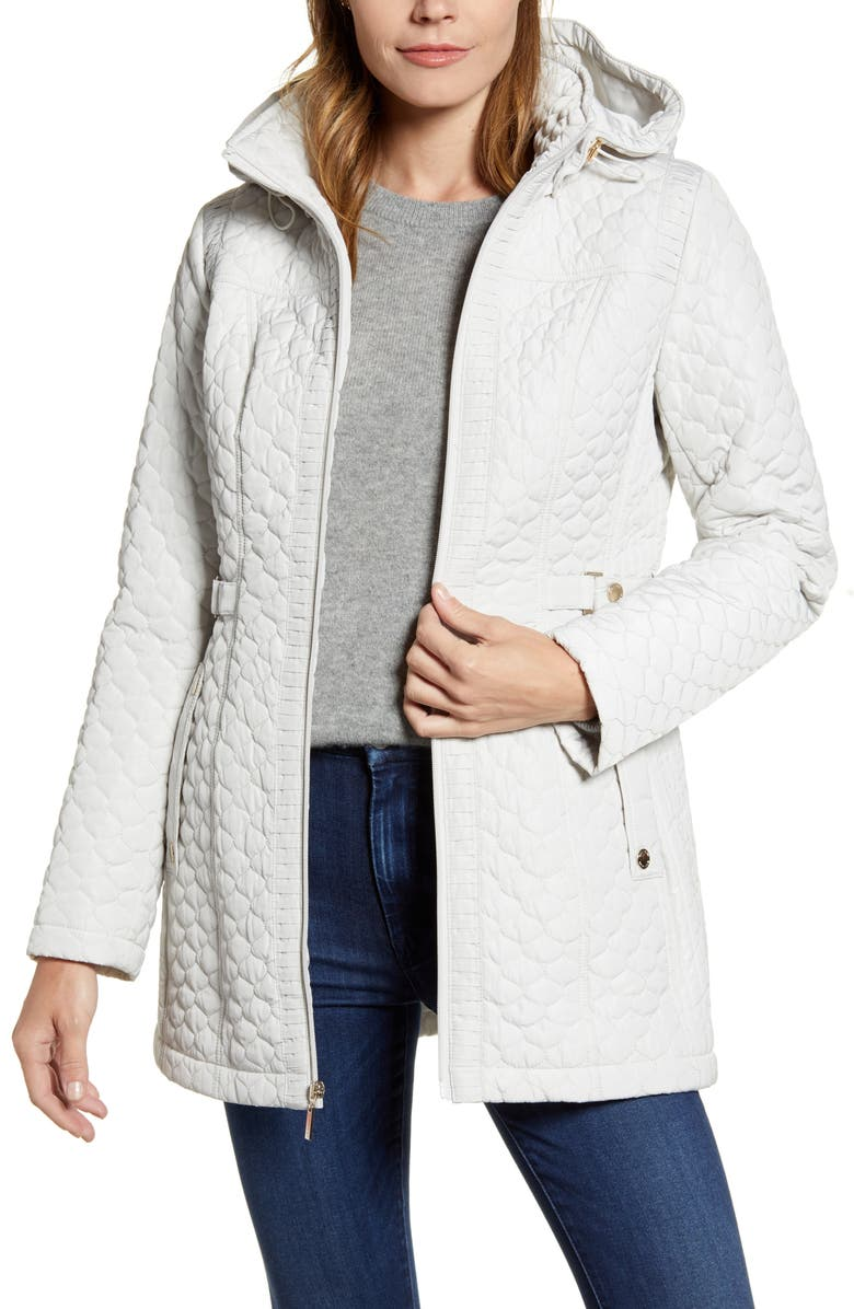 GALLERY Quilted Hooded Jacket, Main, color, STORM CLOUD