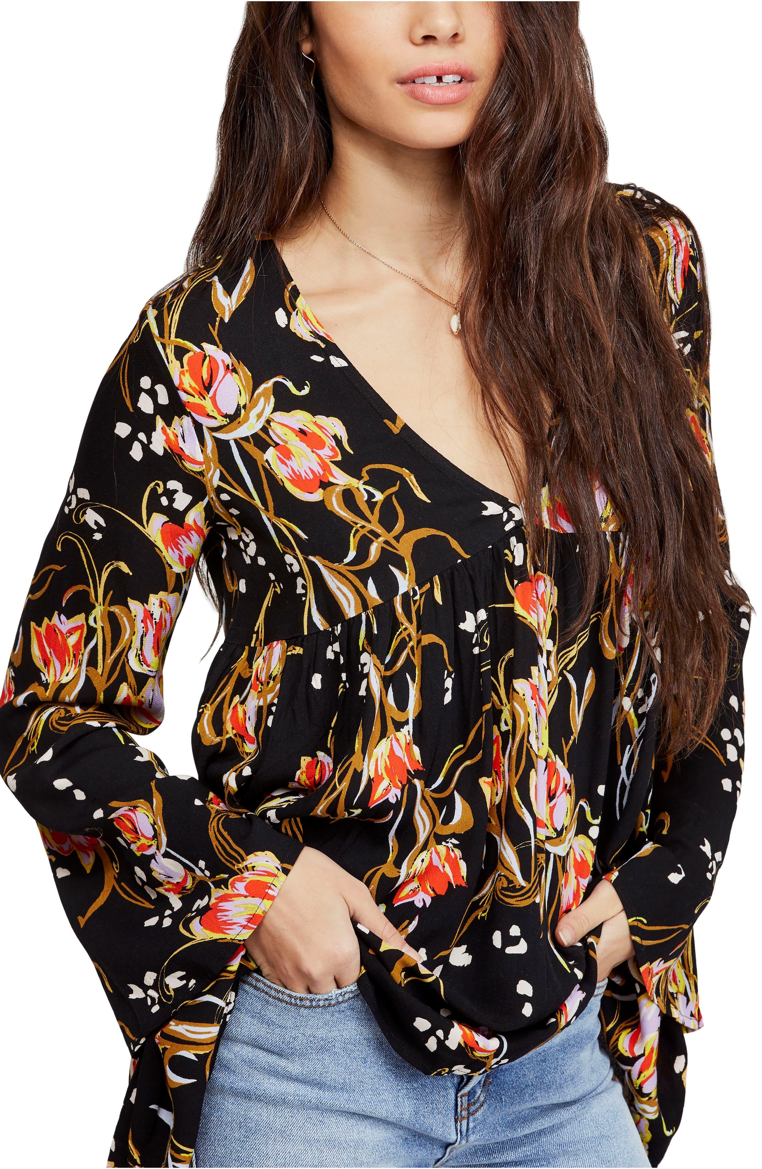 Bella Print Tunic, Main, color, BLACK COMBO