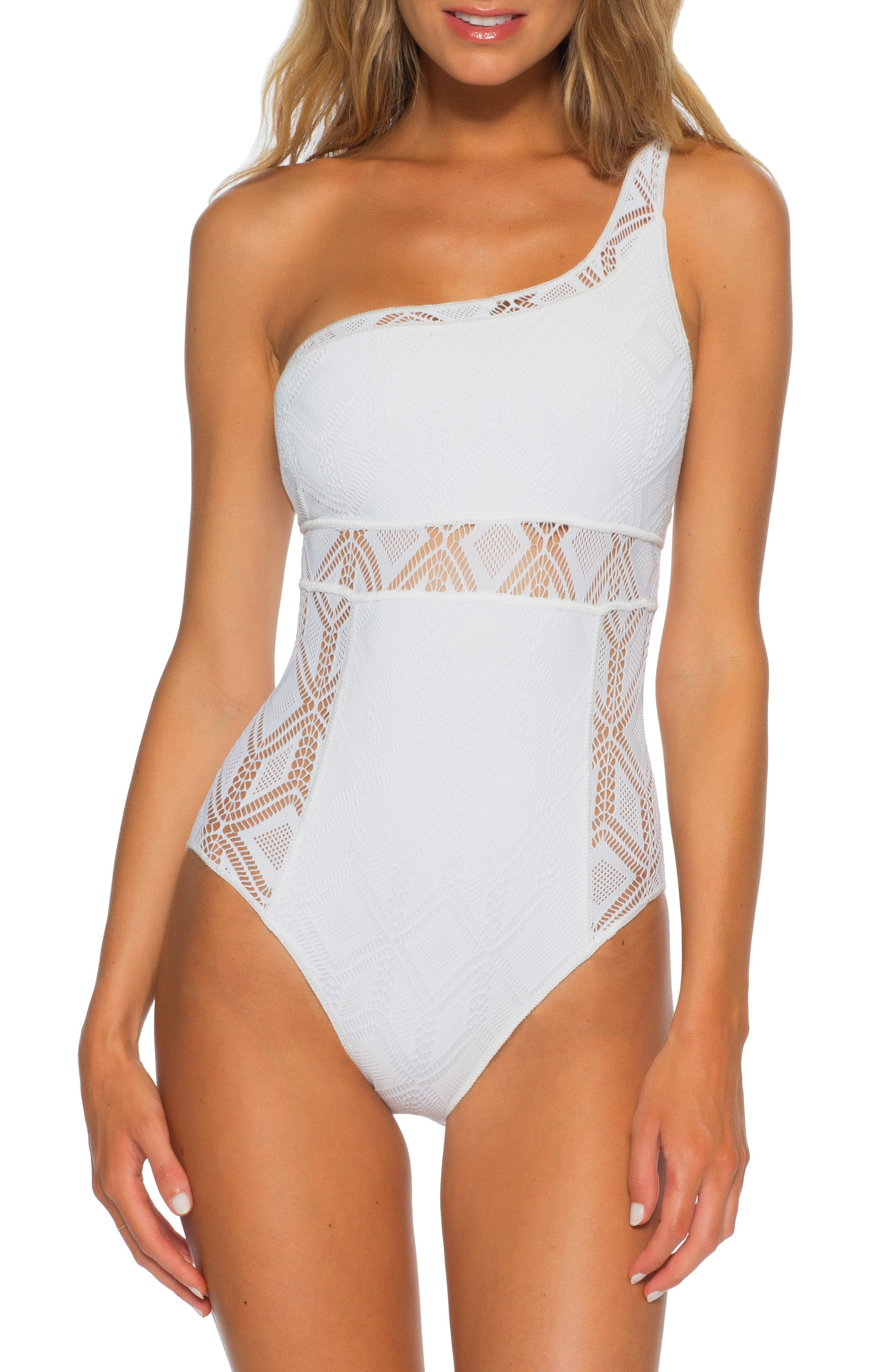 Color Play Asymmetrical One-Piece Swimsuit