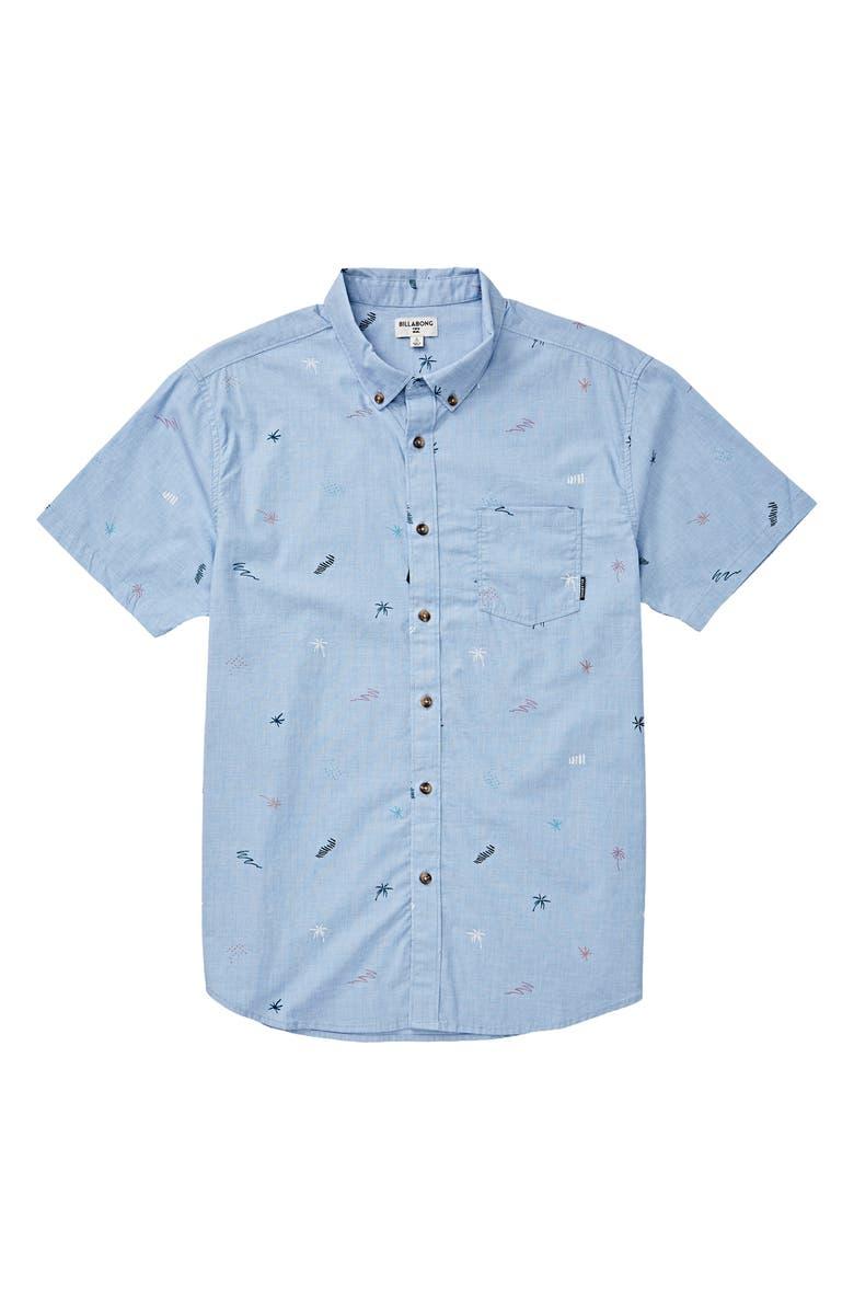 BILLABONG Sundays Button-Down Shirt, Main, color, MIST