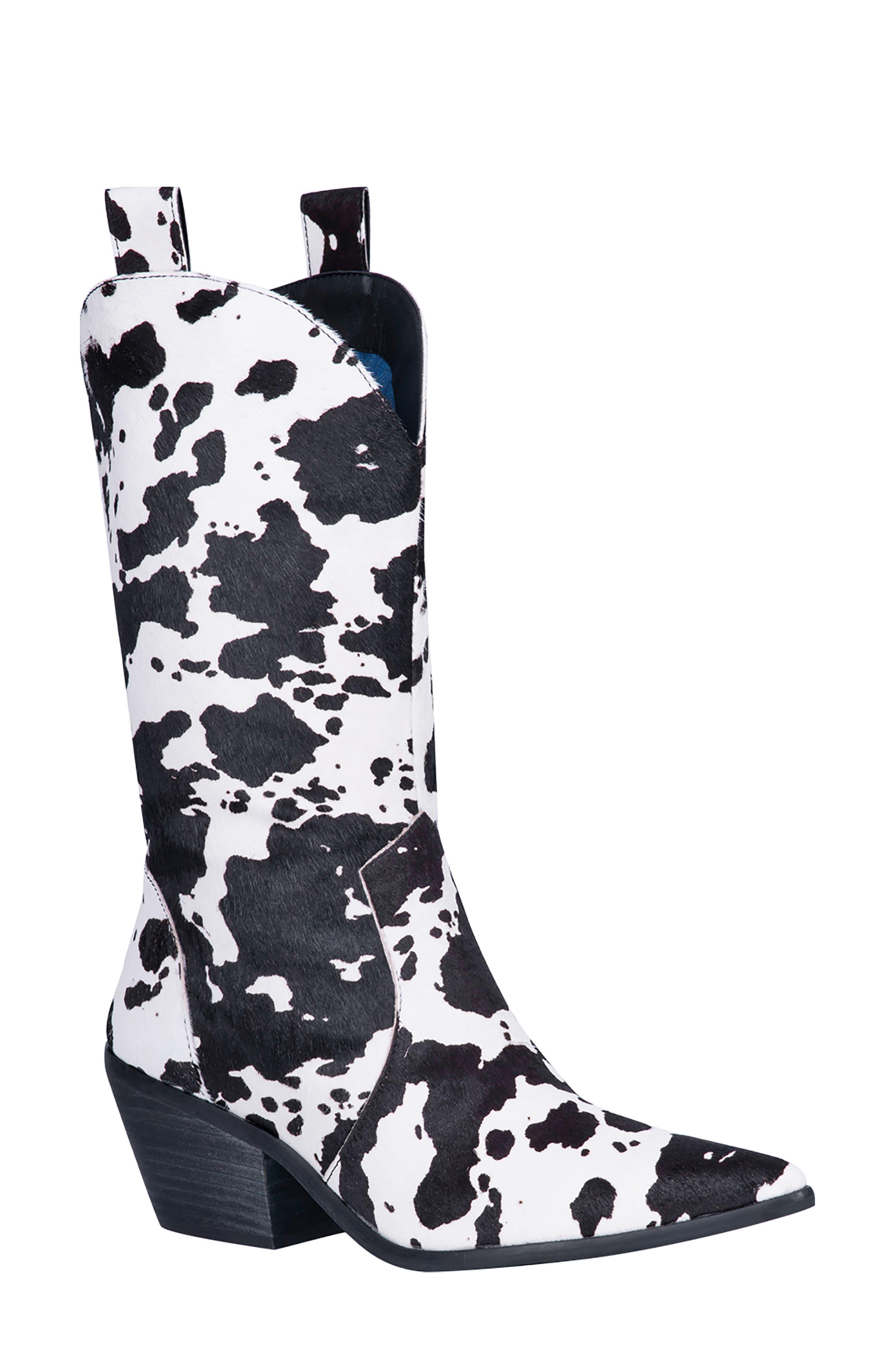 Live A Little Genuine Calf Hair Western Boot