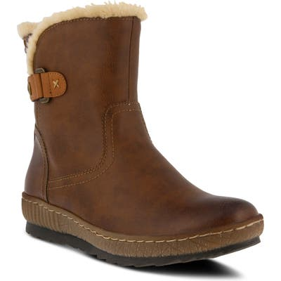 Spring Step Milagra Water Resistant Bootie - Brown