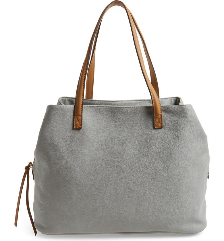 SOLE SOCIETY Millar Faux Leather Tote, Main, color, 020