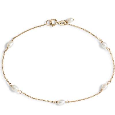 Poppy Finch Keshi Pearl Station Bracelet