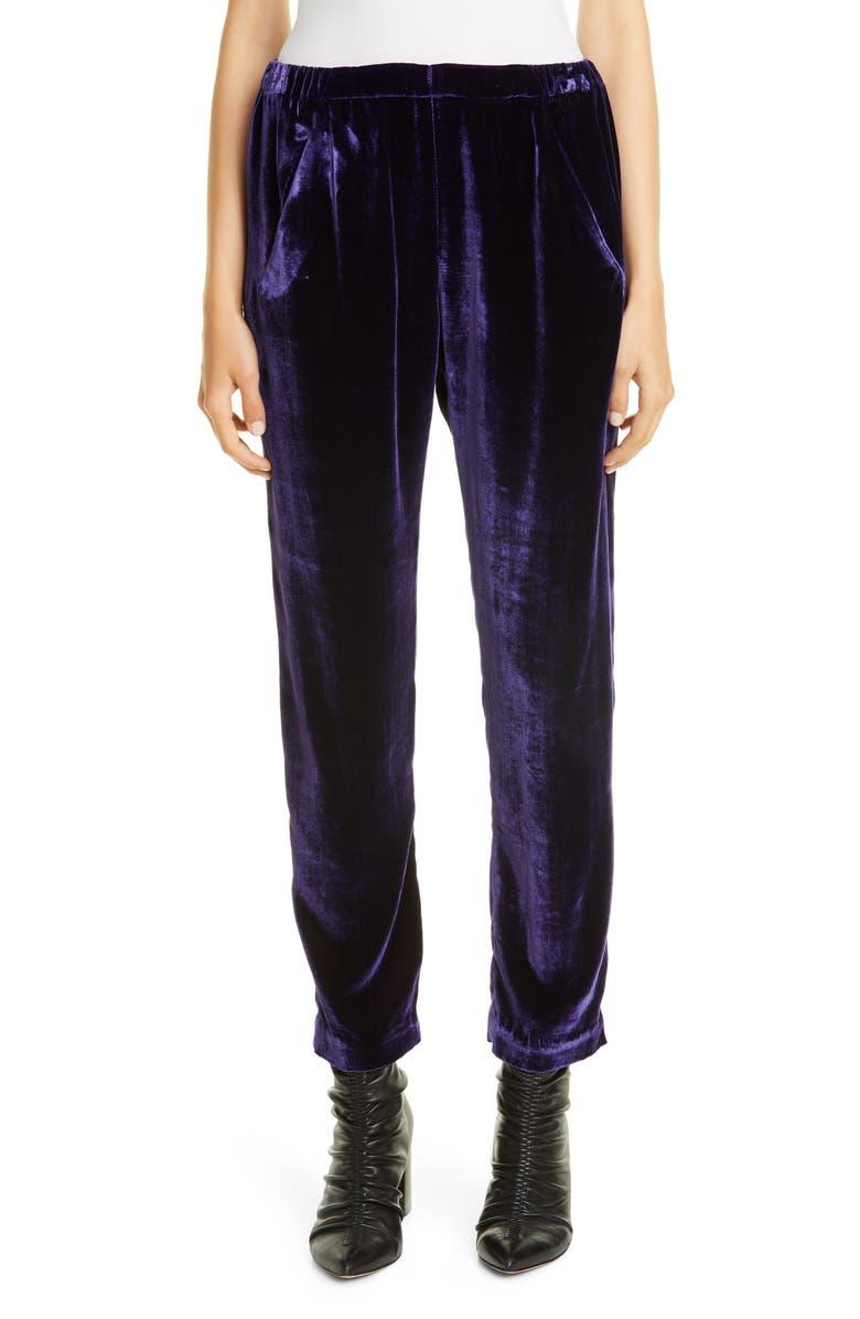 ZERO + MARIA CORNEJO Tabi Velvet Pants, Main, color, ULTRA VIOLET