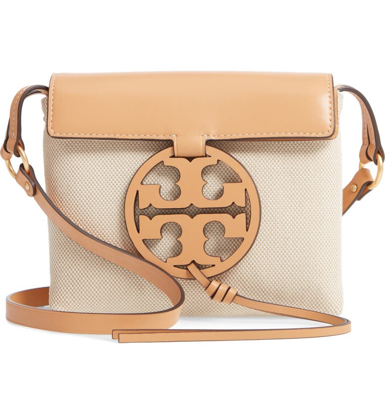 Tory Burch Miller Canvas Amp Leather Crossbody Bag Nordstrom