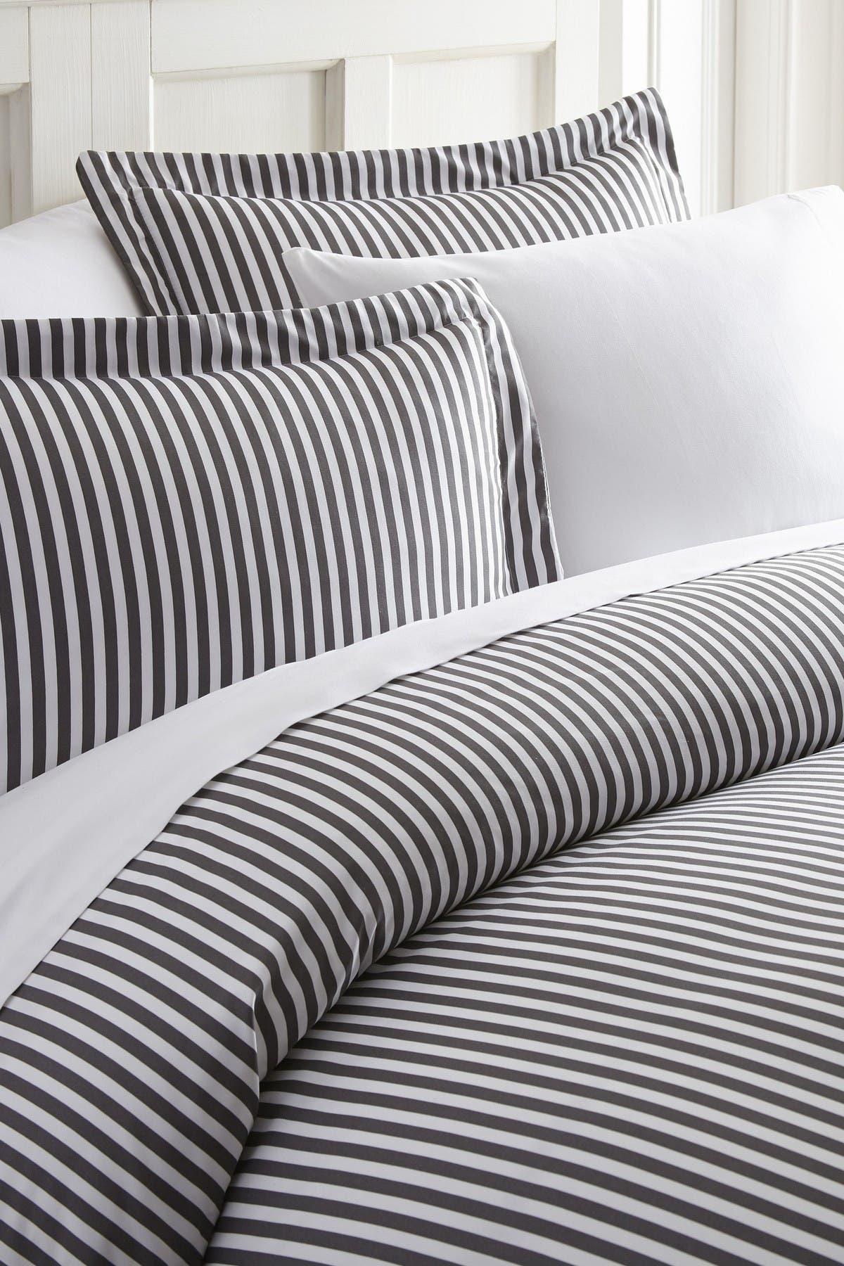Image of IENJOY HOME Home Spun Premium Ultra Soft Ribbon Pattern 2-Piece Duvet Cover Twin Set - Gray