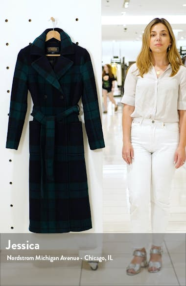 Aurora Classic Double Breasted Reefer Coat, sales video thumbnail