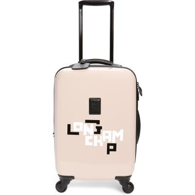 Longchamp Cuir Lgp 18-Inch Rolling Spinner Carry-On - Pink
