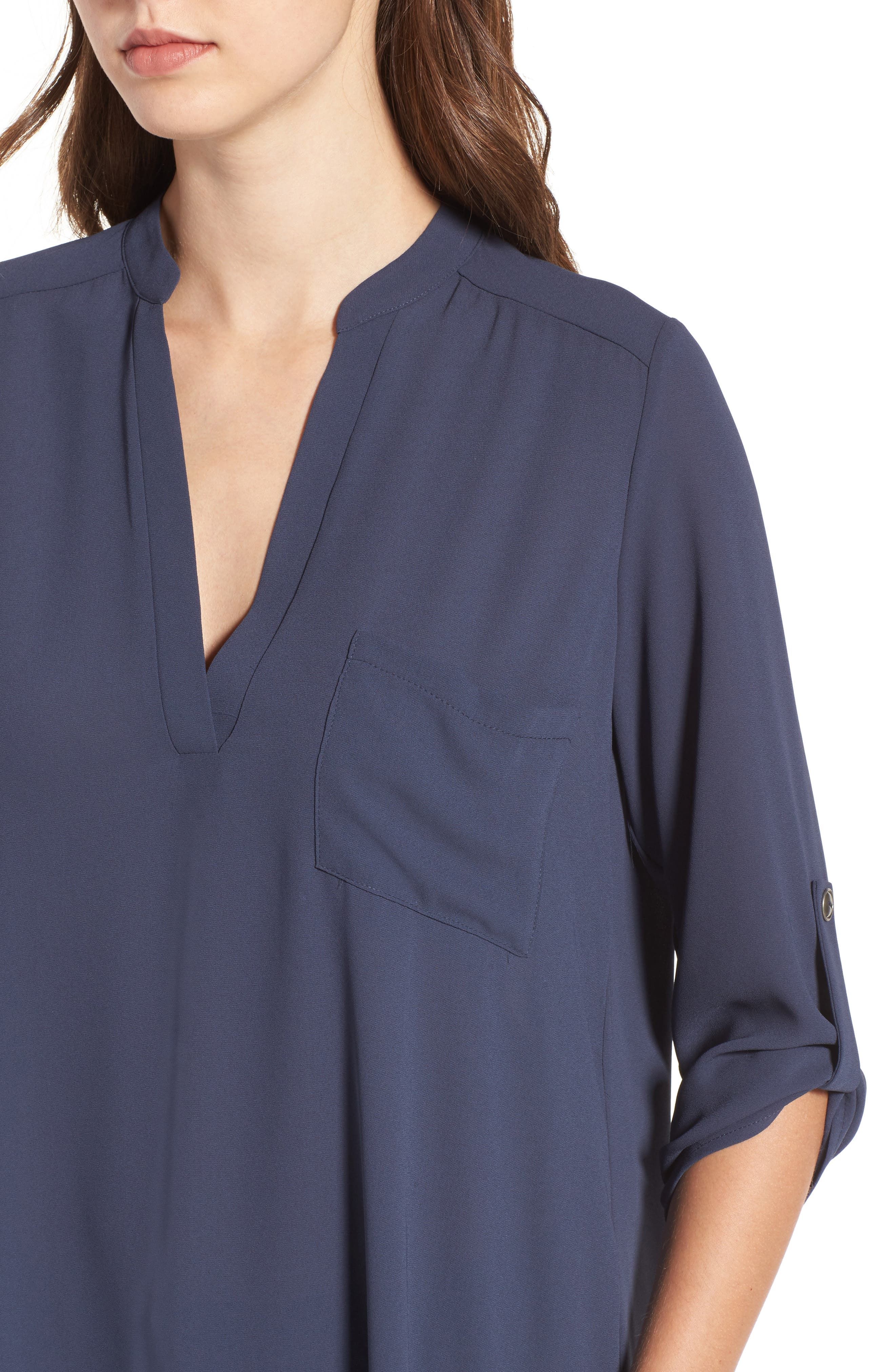 ,                             Perfect Roll Tab Sleeve Tunic,                             Alternate thumbnail 37, color,                             099
