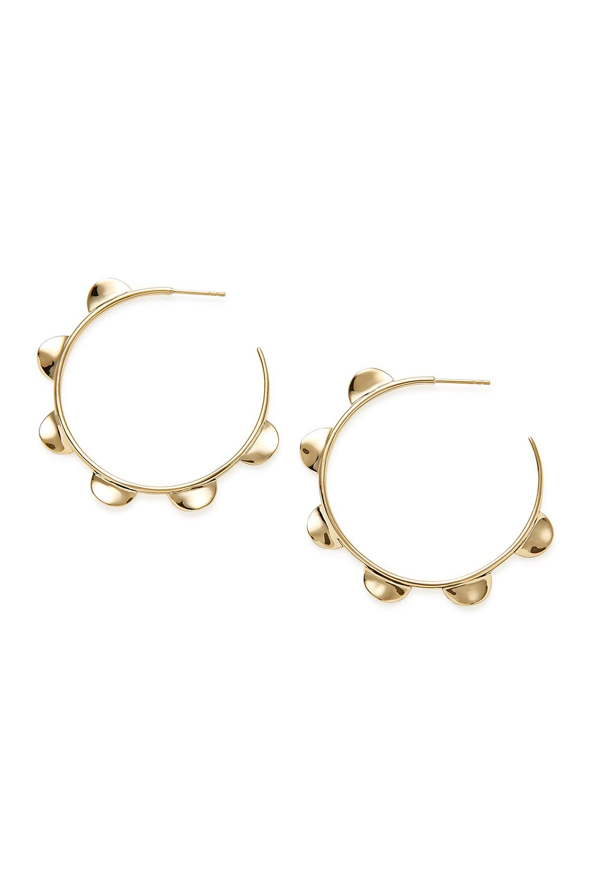 Image of Ippolita Classico 18K Yellow Gold Scalloped Spike Hoop Earrings