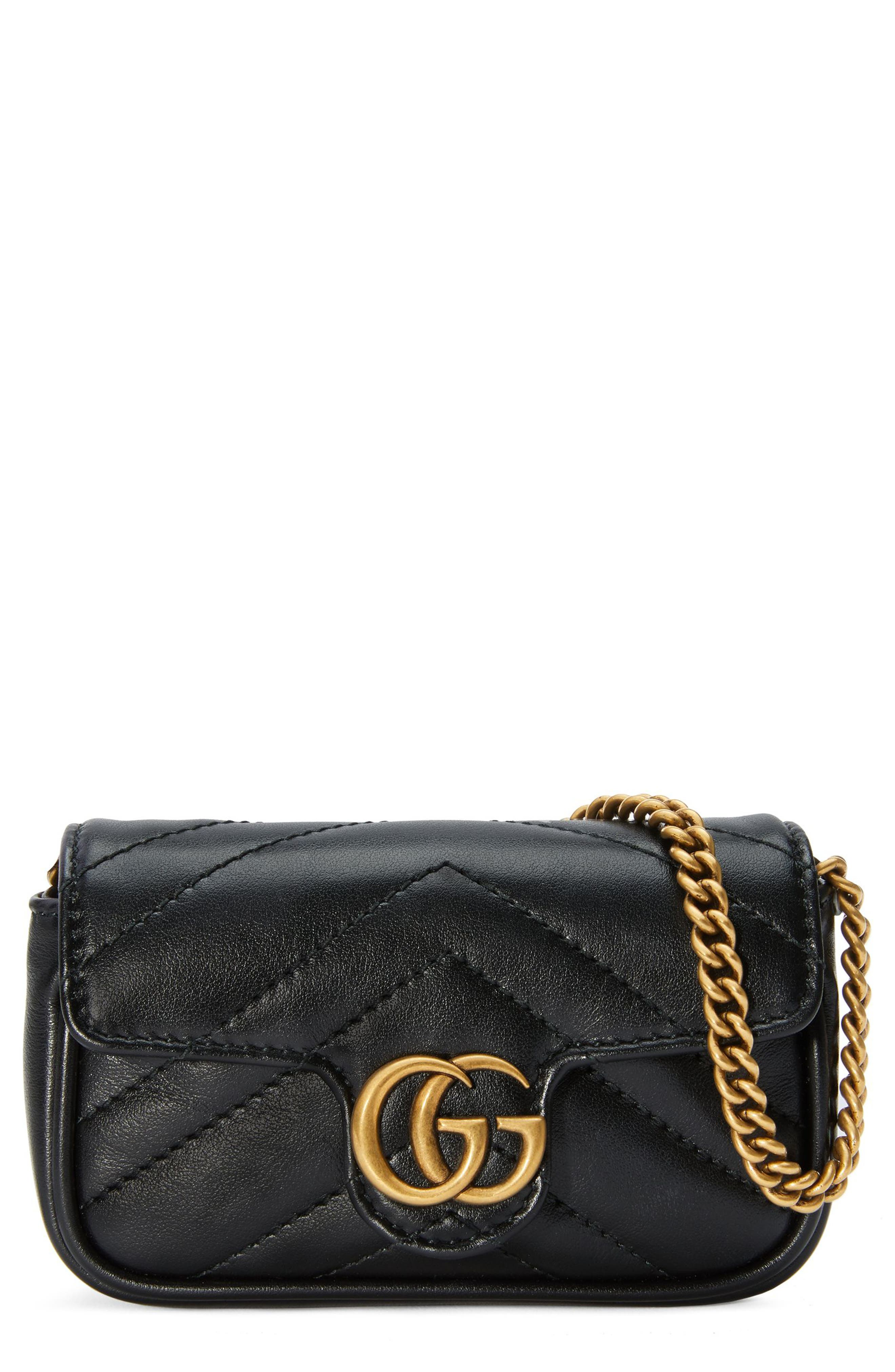 GG Marmont 2.0 Quilted Leather Coin Purse on a Chain