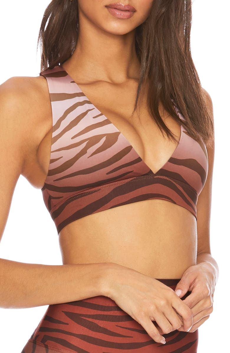 BEACH RIOT Kelly Sports Bra, Main, color, RUST