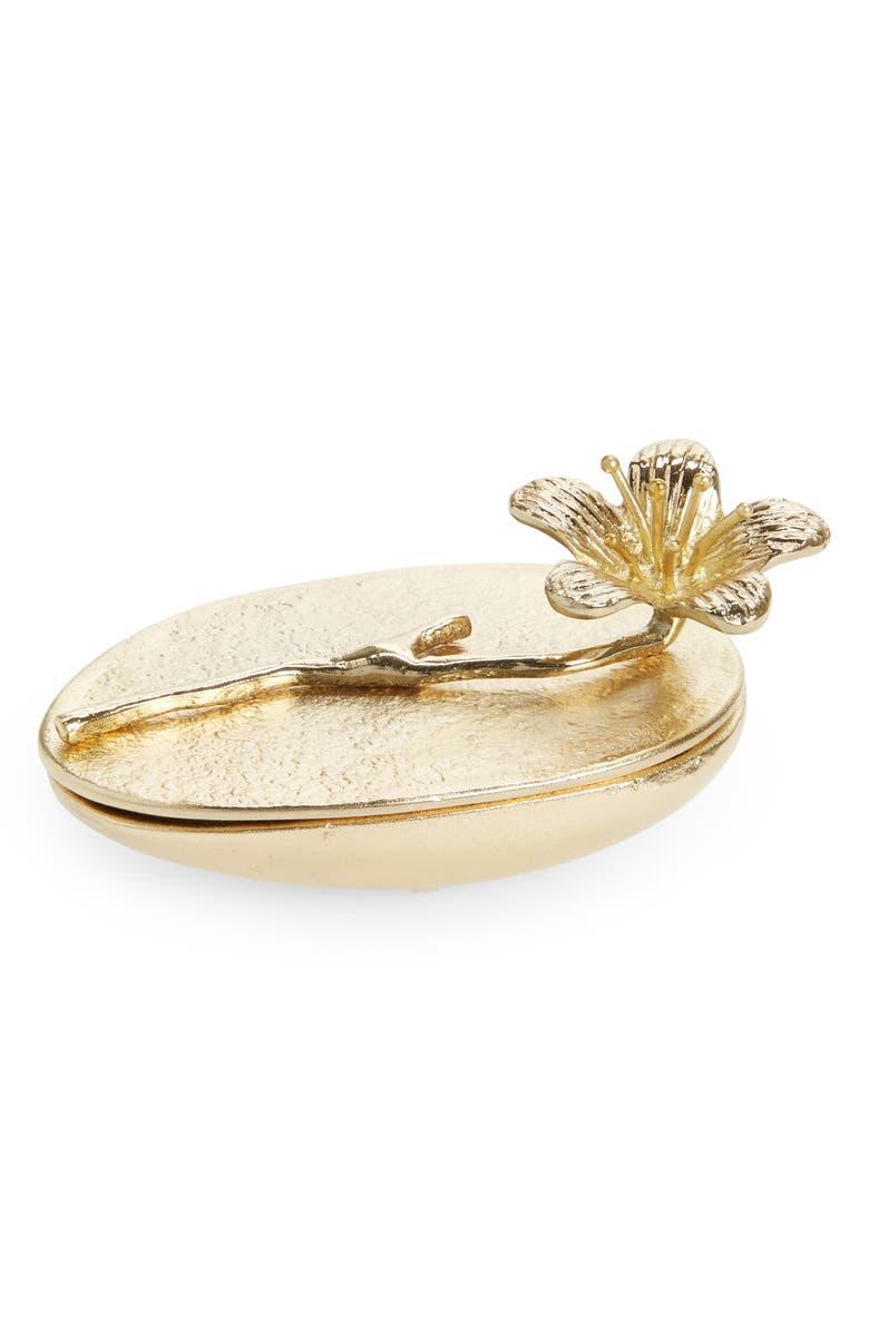 ANTHROPOLOGIE HOME Trinket Blossom Box, Main, color, GOLD