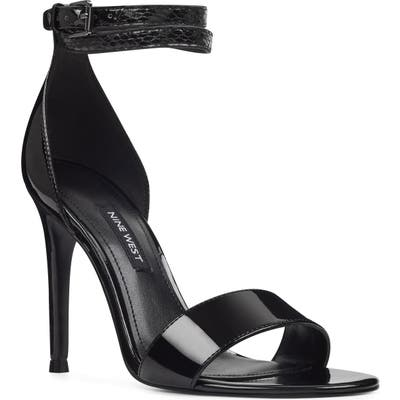 Nine West Nika Ankle Strap Sandal- Black