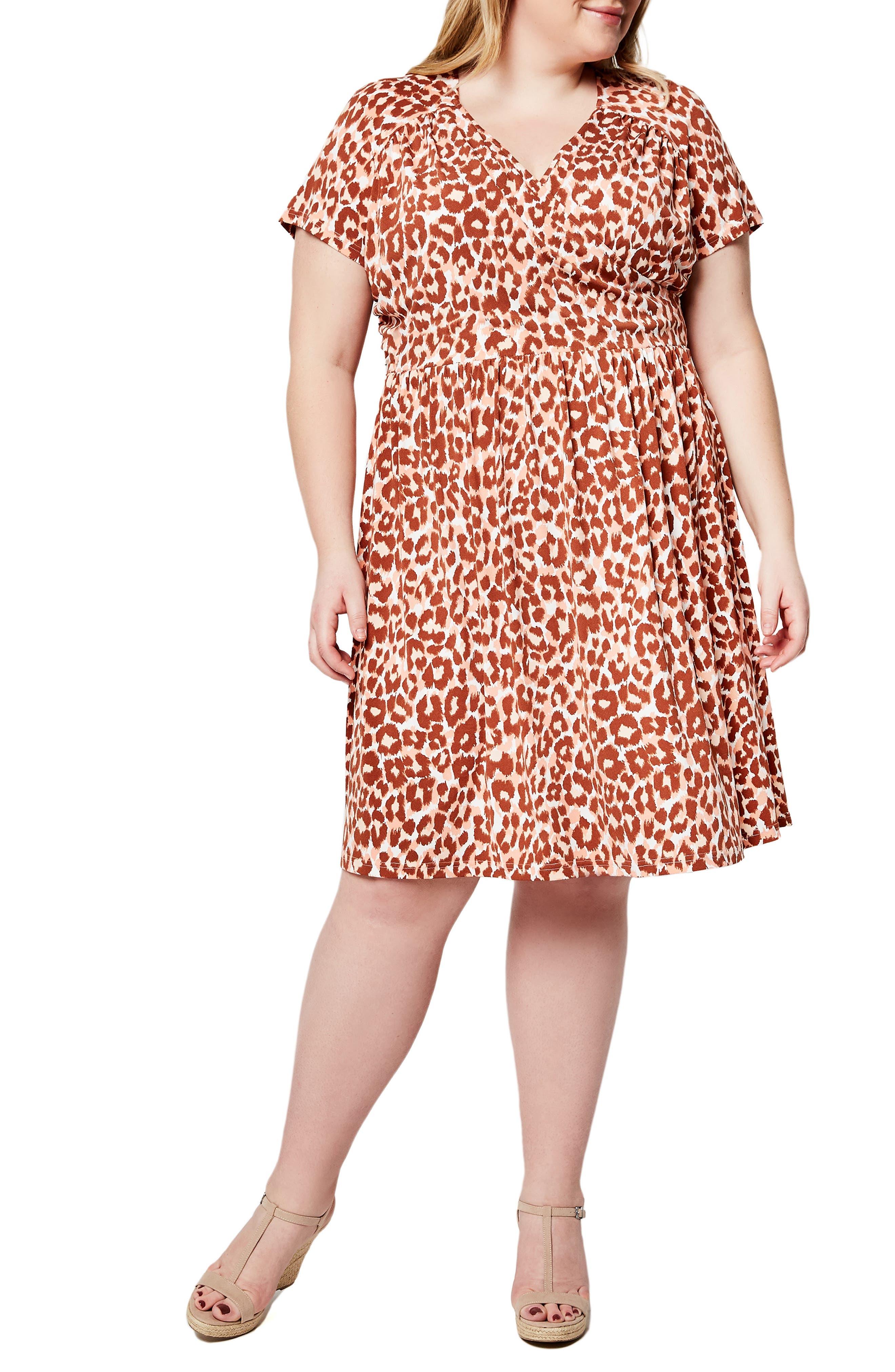 Leopard Dress Animal Print Dress Cheetah Print Dress Plus Size Dress Teen Dress T Shirt Dress Womens Dress
