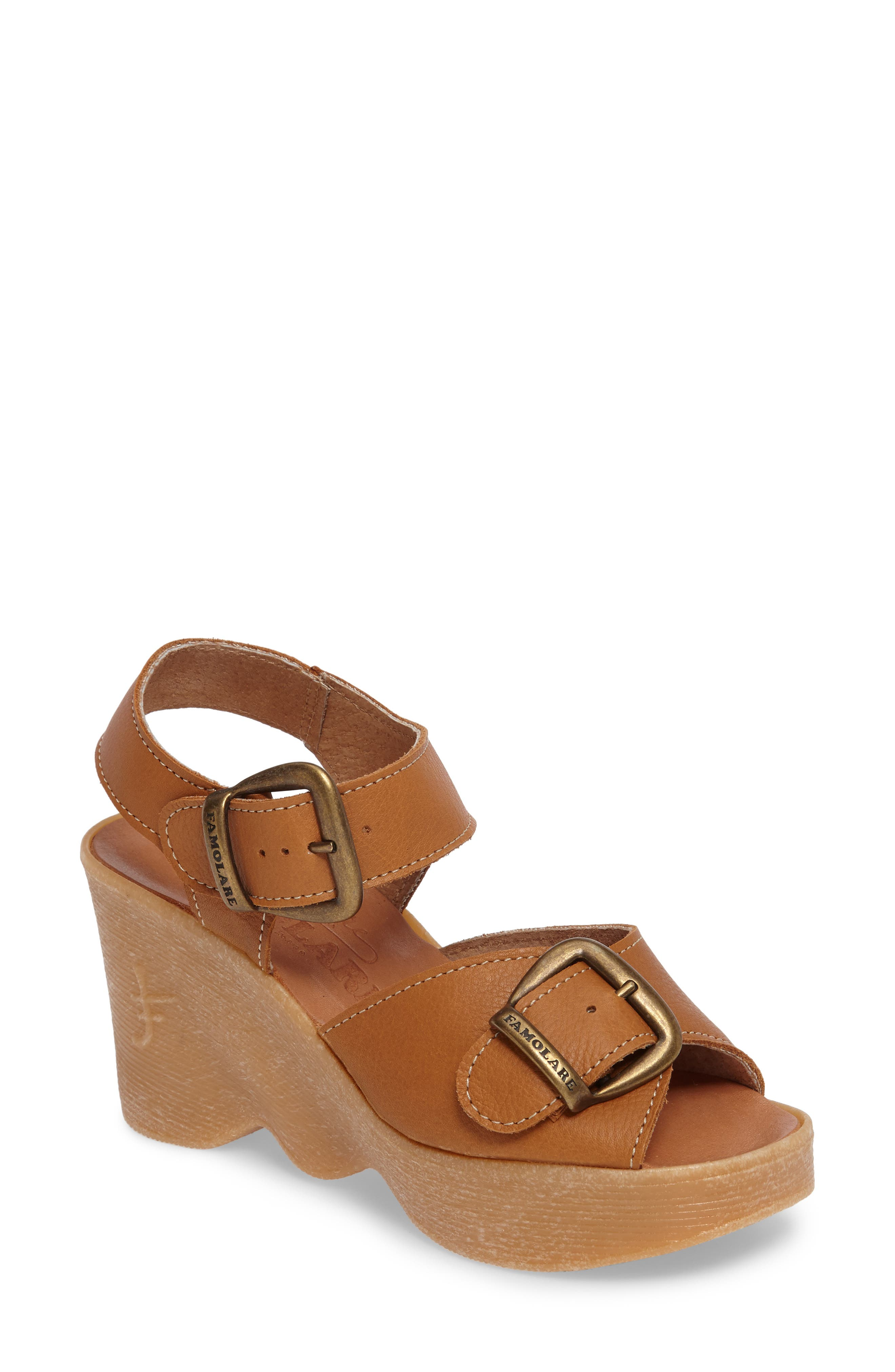 60s Shoes, Boots | 70s Shoes, Platforms, Boots Womens Famolare Double Vision Wedge Sandal $167.95 AT vintagedancer.com
