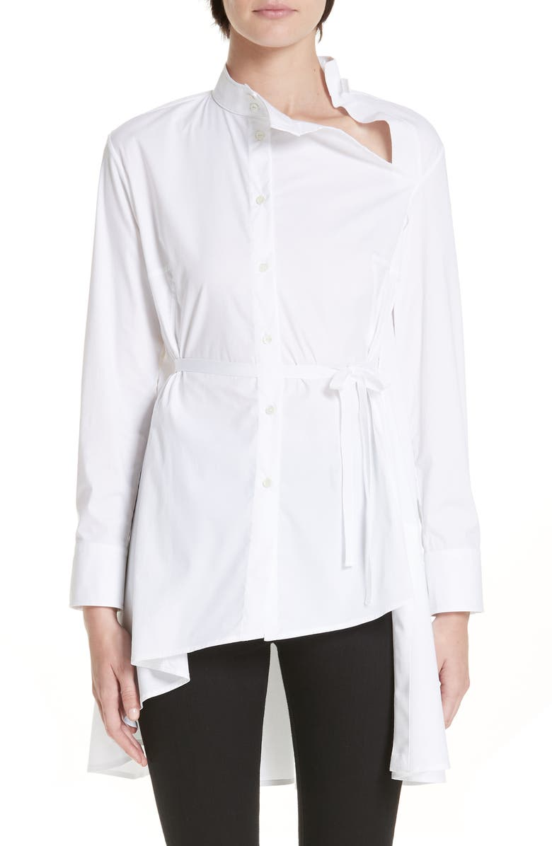 PALMER/HARDING Split Shirt, Main, color, 100