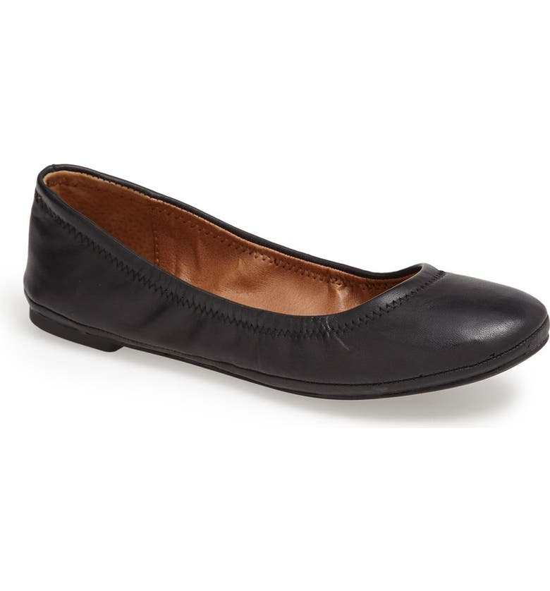LUCKY BRAND 'Emmie' Flat, Main, color, BLACK