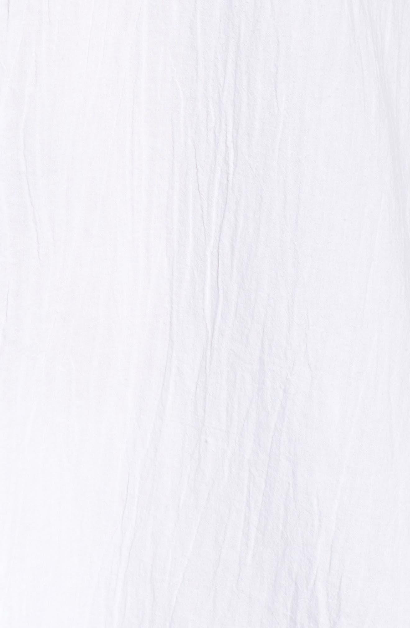 ,                             Boyfriend Shirt Cover-Up,                             Alternate thumbnail 6, color,                             WHITE