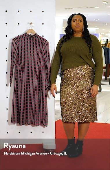 Print Long Sleeve Midi Dress, sales video thumbnail