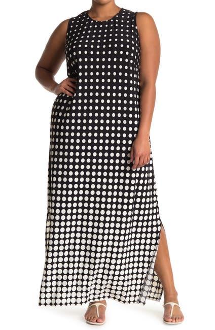 Image of London Times Graduating Dot Jersey Maxi Dress
