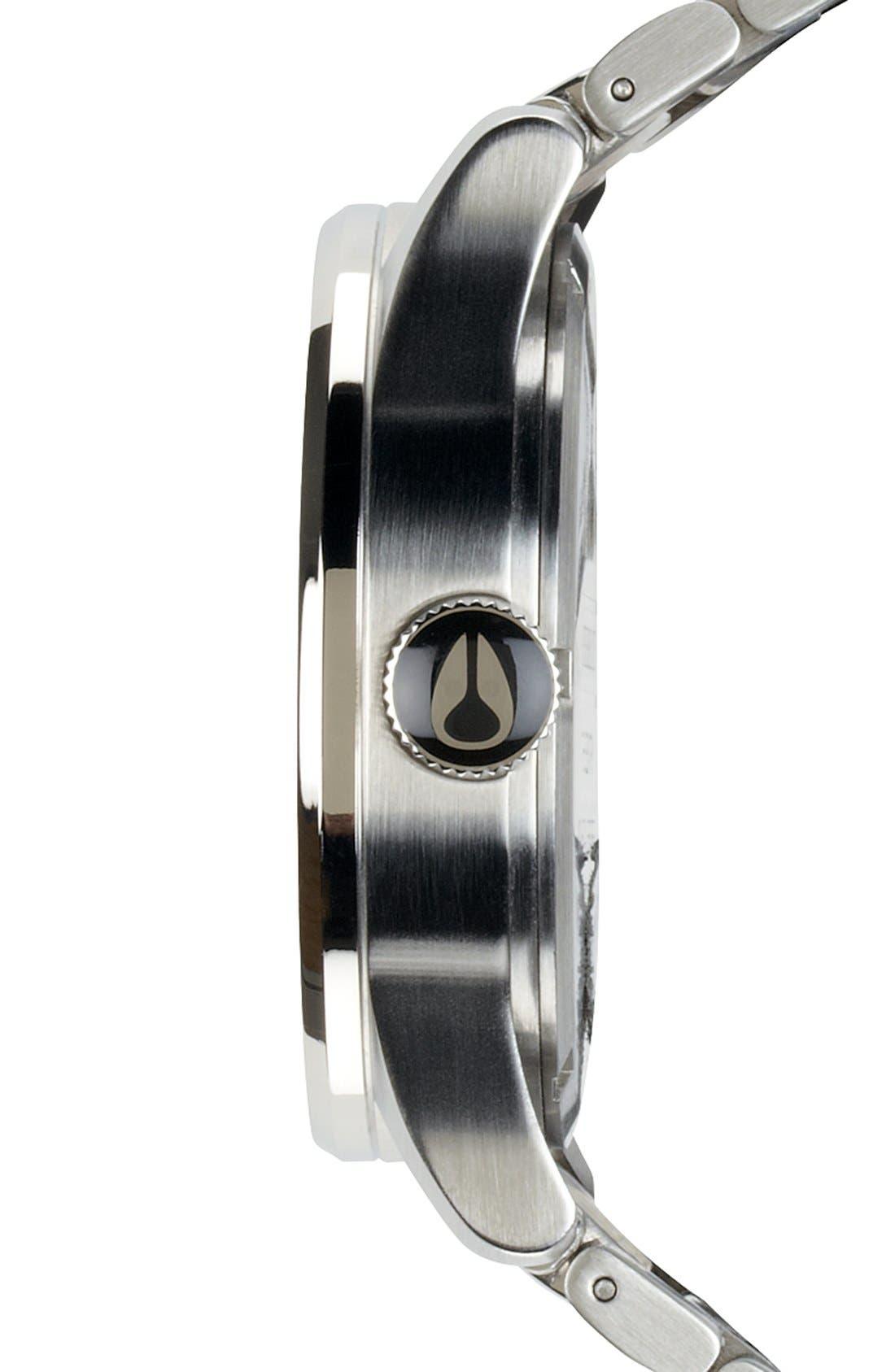 ,                             Sentry Bracelet Watch, 42mm,                             Alternate thumbnail 3, color,                             SILVER/ BLUE SUNRAY