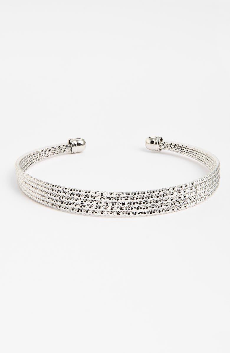 BP. Skinny Metal Cuff Bracelet, Main, color, 040