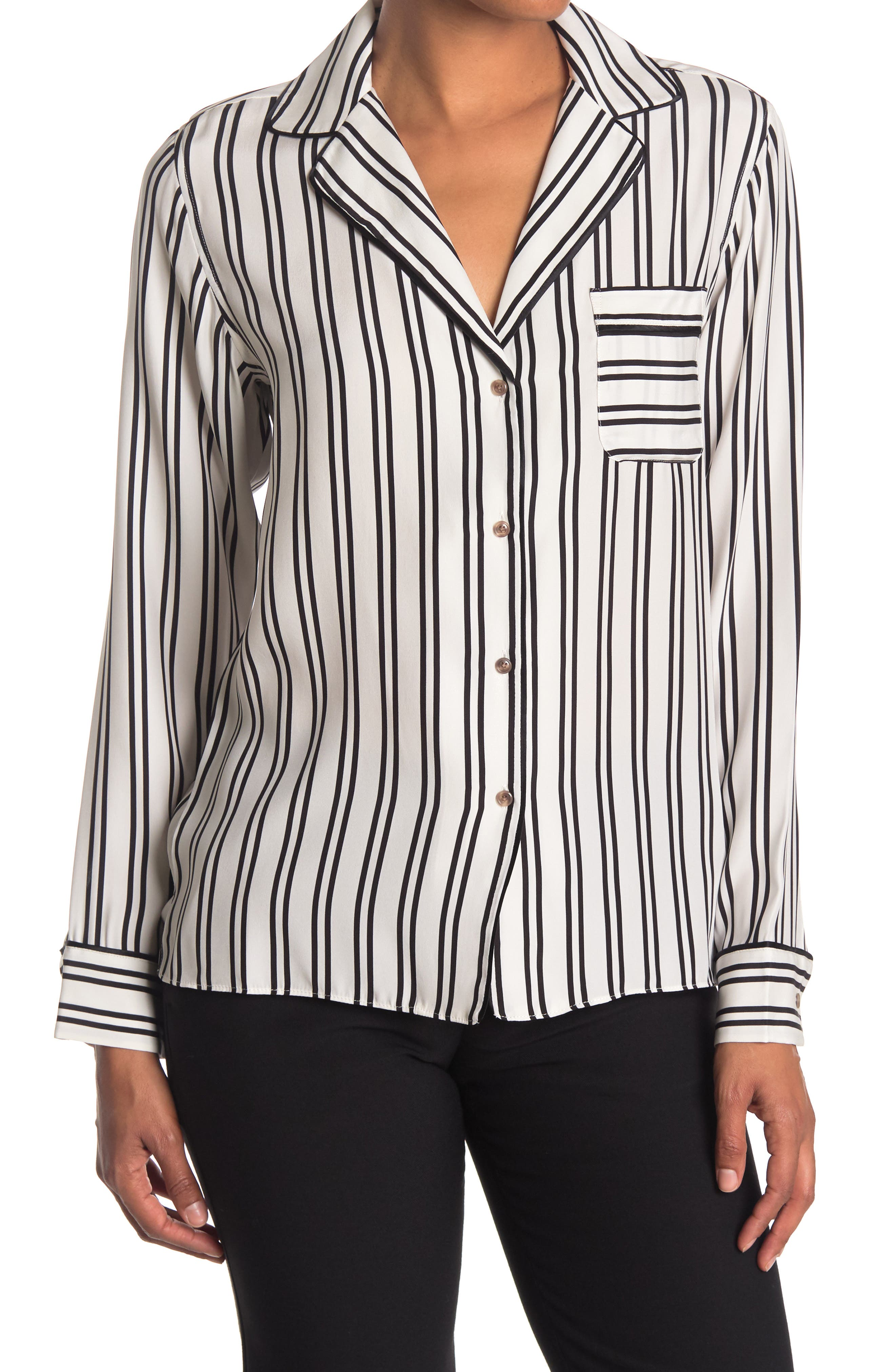Image of LA LIGNE Leo Striped Shirt