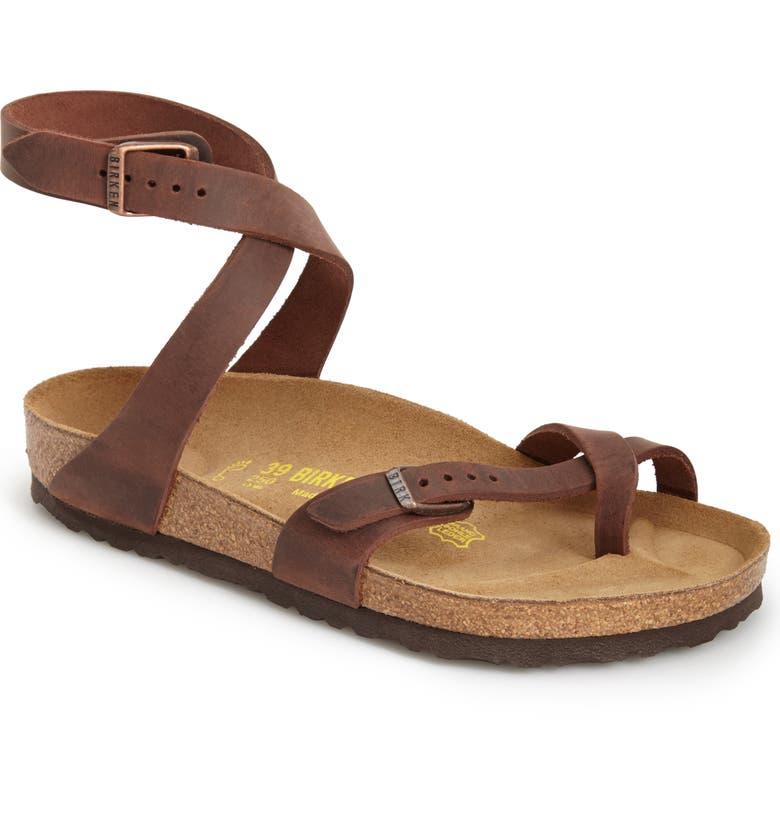 BIRKENSTOCK 'Yara' Sandal, Main, color, YARA HABANA OILED LEATHER