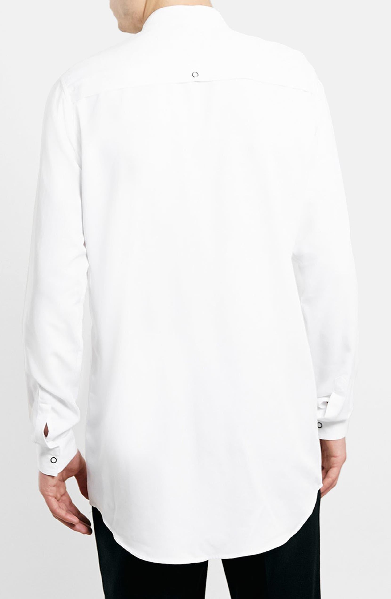 e8ead6ccc4 Topman Longline Band Collar Shirt | Nordstrom