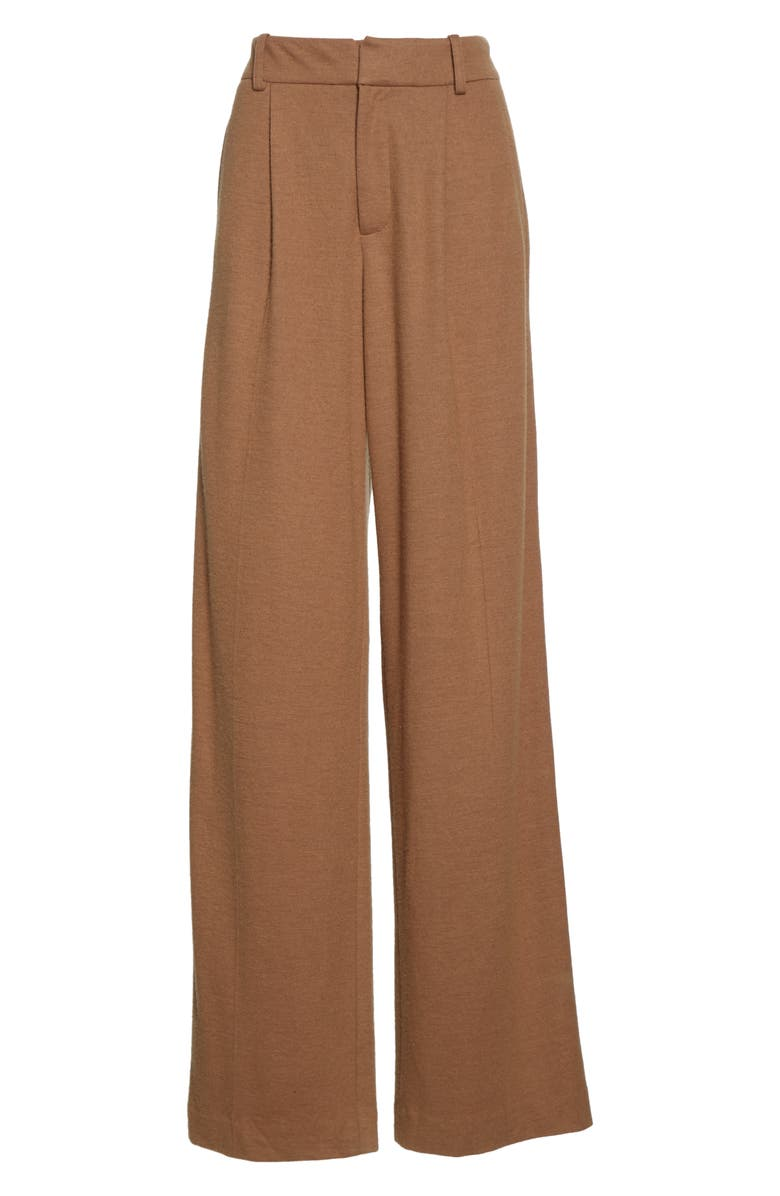 VINCE Cozy Wide Leg Wool Blend Pants, Alternate, color, AMBRETTE