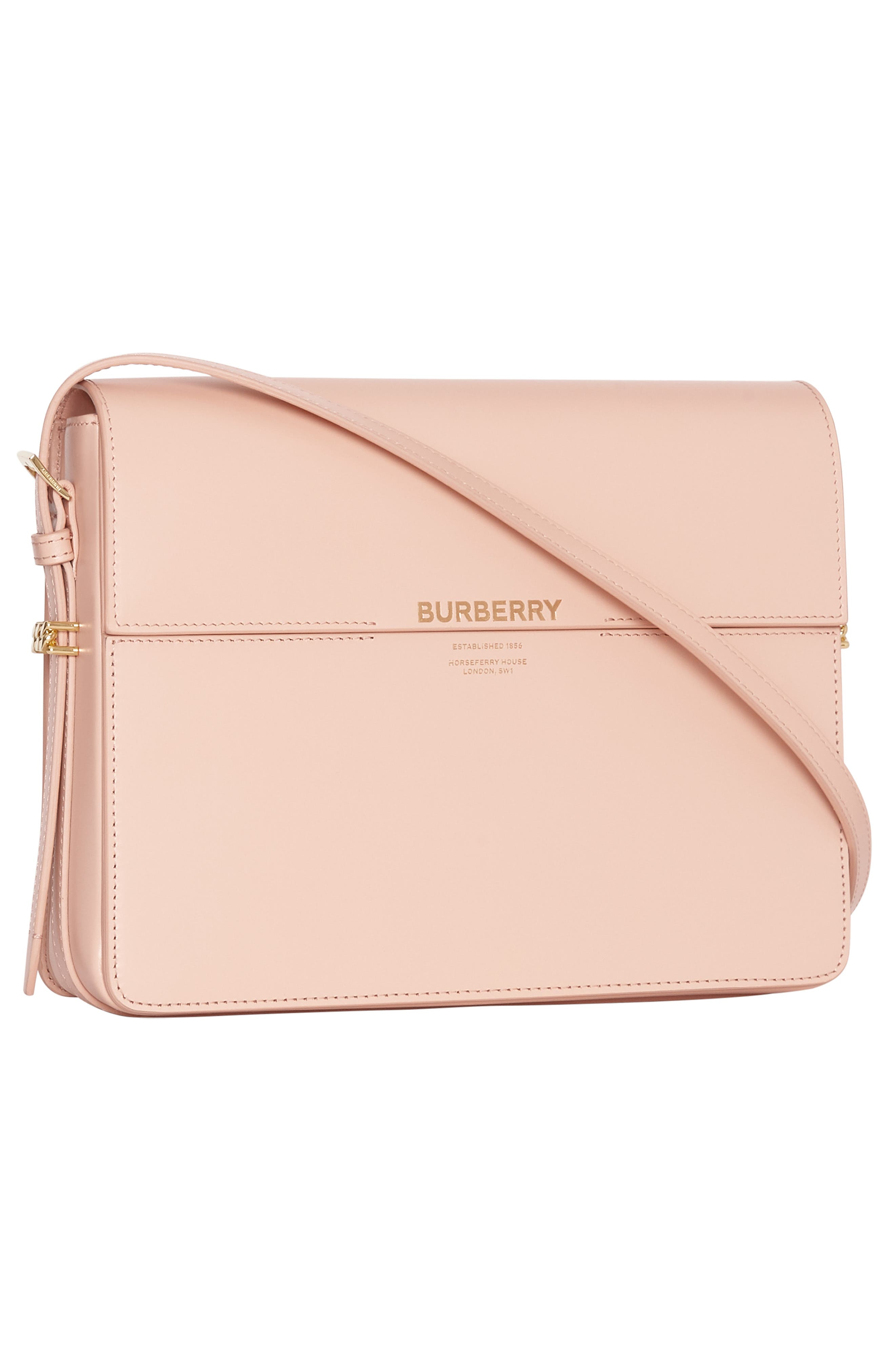 ,                             Large Grace Leather Shoulder Bag,                             Alternate thumbnail 8, color,                             SOFT BLUSH