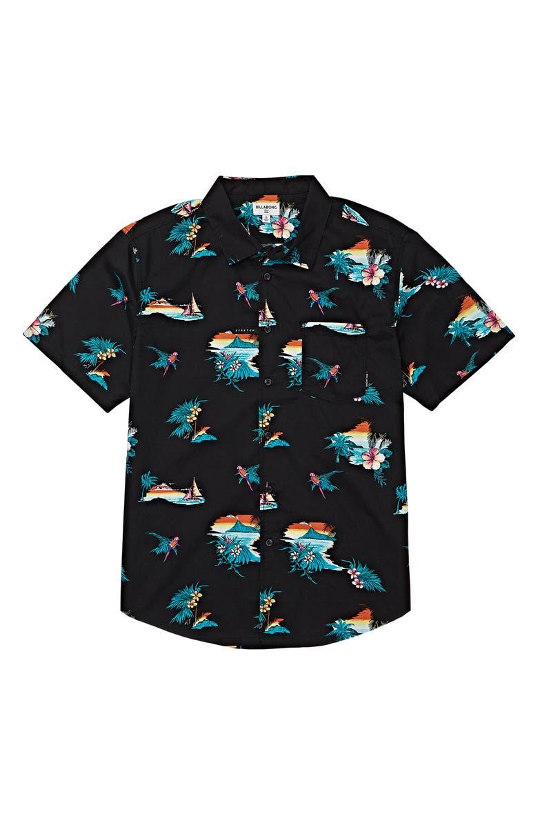 BILLABONG Sundays Floral Woven Shirt, Main, color, 001