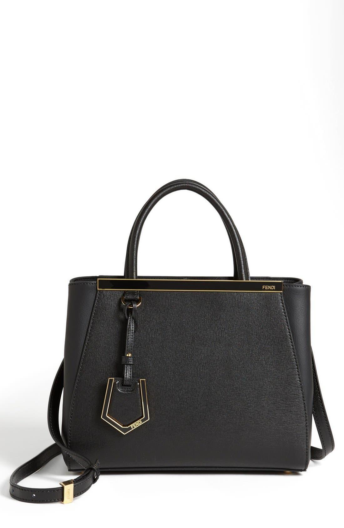 ,                             'Petite 2Jours Elite' Leather Shopper,                             Main thumbnail 11, color,                             001