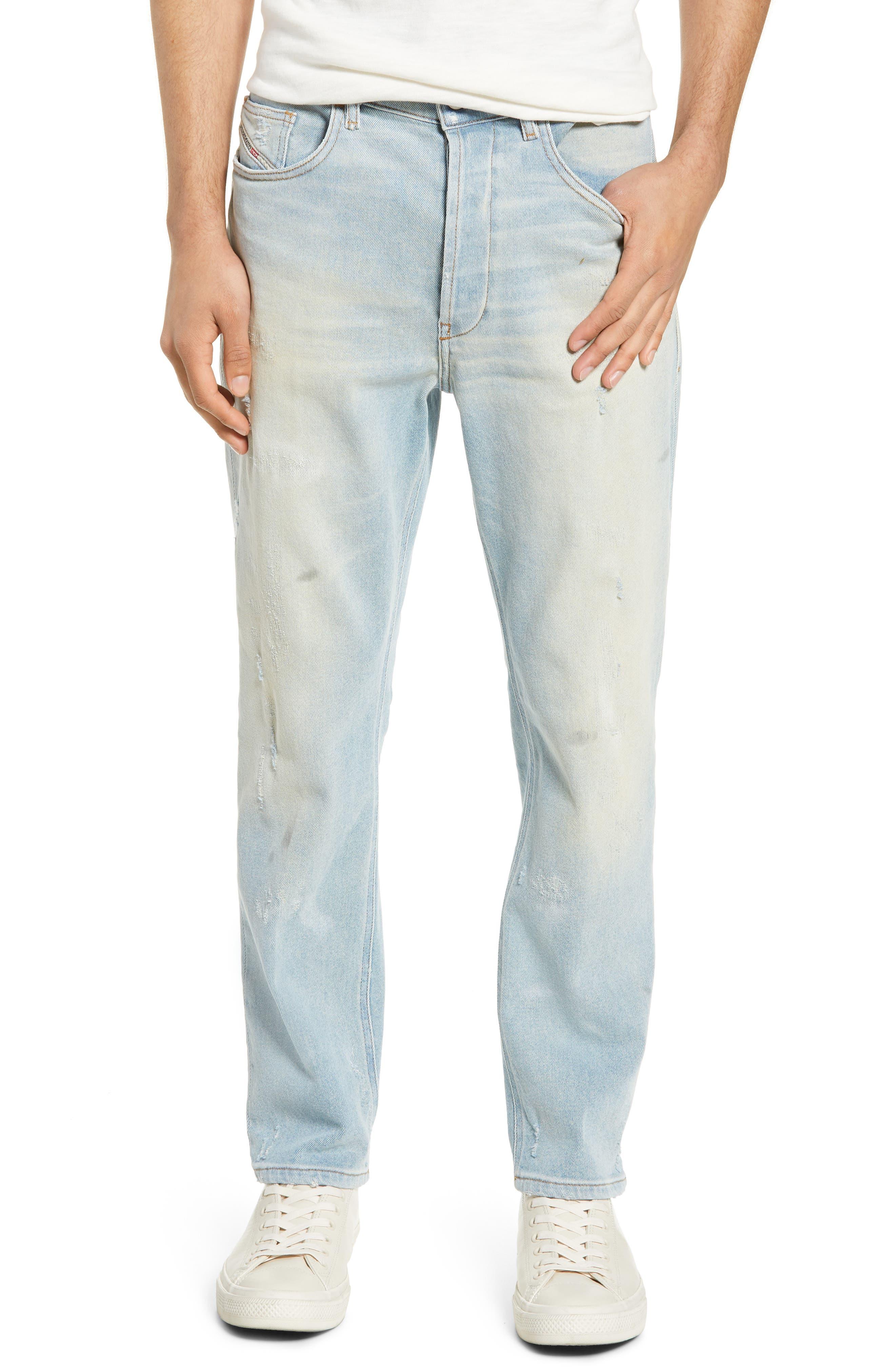 Image of Diesel D-eetar Distressed Slim Fit Jeans