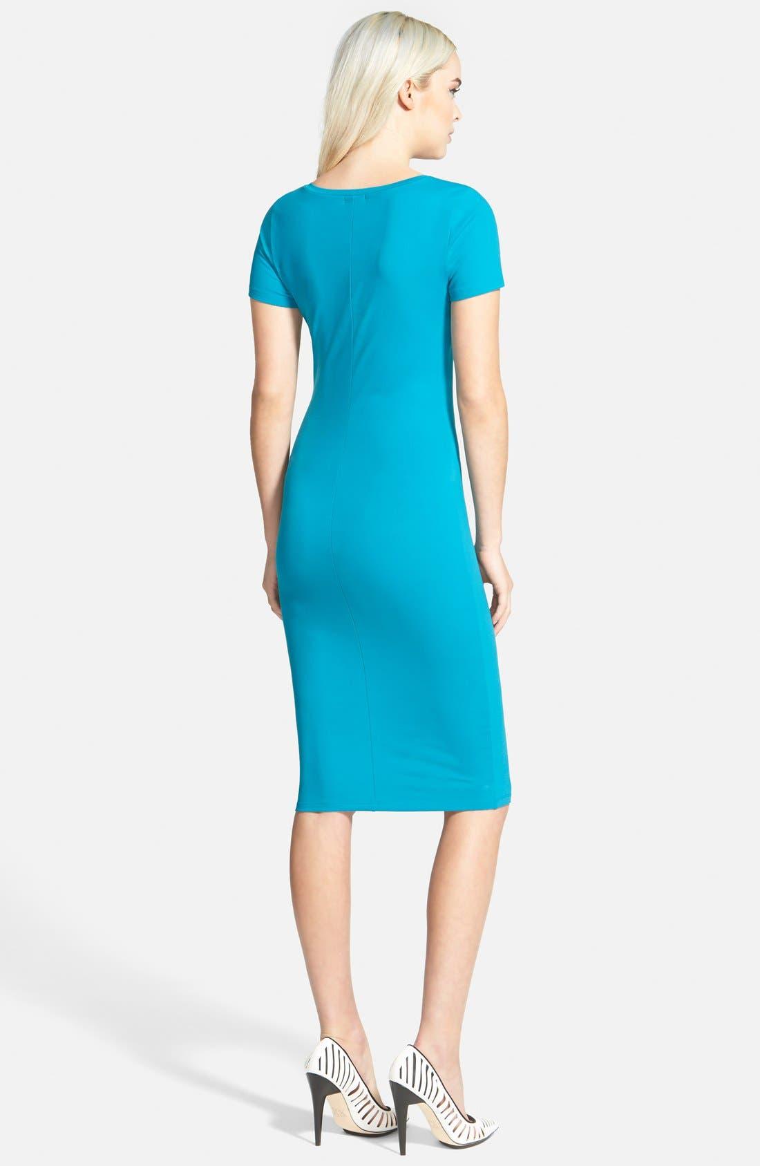 ,                             V-Neck Body-Con Dress,                             Alternate thumbnail 15, color,                             449