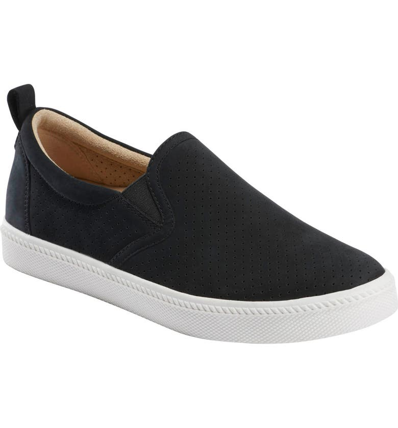 EARTH<SUP>®</SUP> Zen Groove Slip-On Sneaker, Main, color, BLACK NUBUCK LEATHER