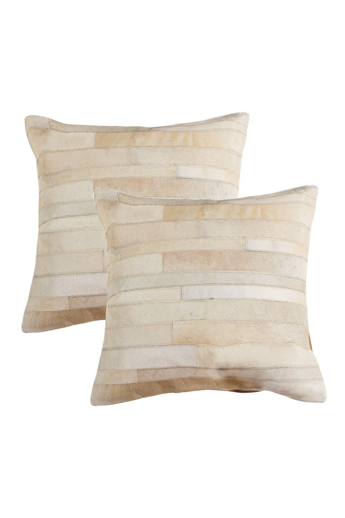 "Image of Natural Torino Madrid Pillow 18"" x 18"" - Natural - Pack of 2"