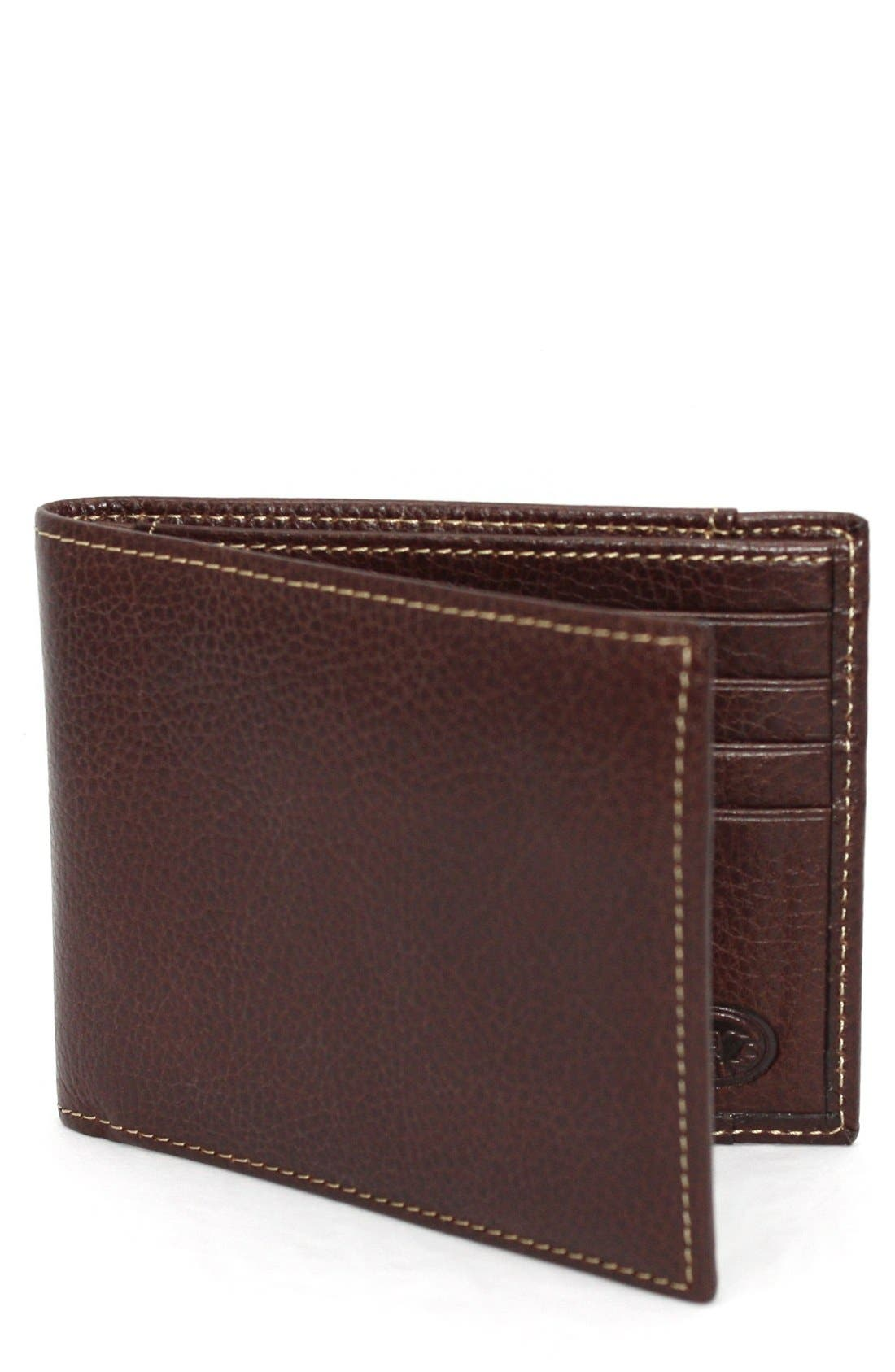 Soft, tumbled leather is shaped into a handsome billfold designed with enough pockets and slots for your cash, plastic and other essentials. Style Name: Torino Leather Billfold Wallet. Style Number: 5080219. Available in stores.