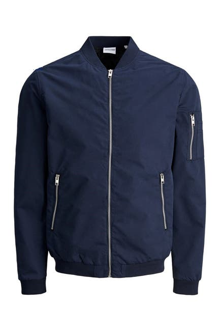 Image of JACK & JONES Zip Front Bomber Jacket