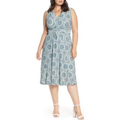 Plus Size Michael Michael Kors Majorelle V-Neck Knit Dress, White