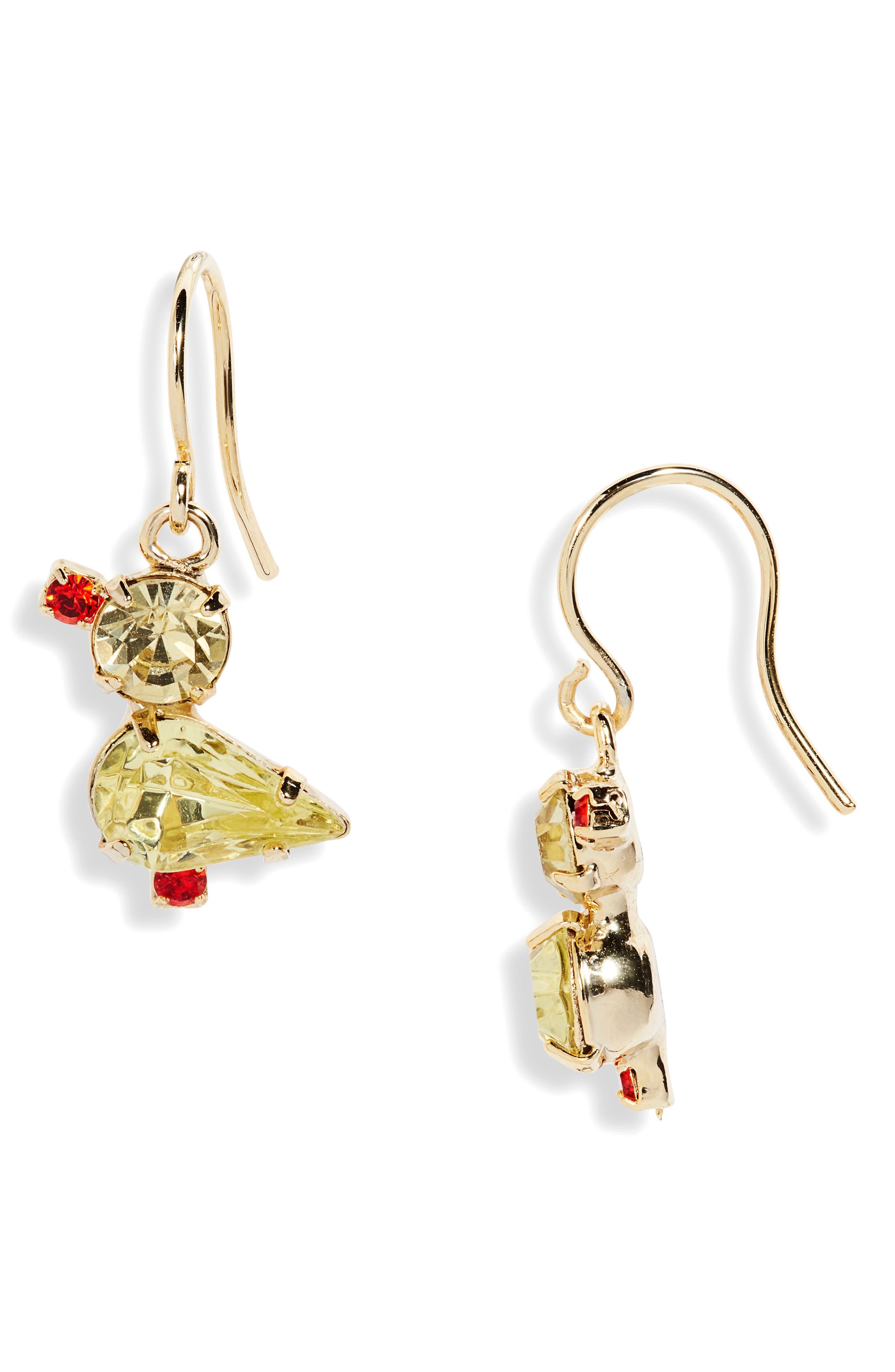 Petite Chick-A-Dee Drop Earrings