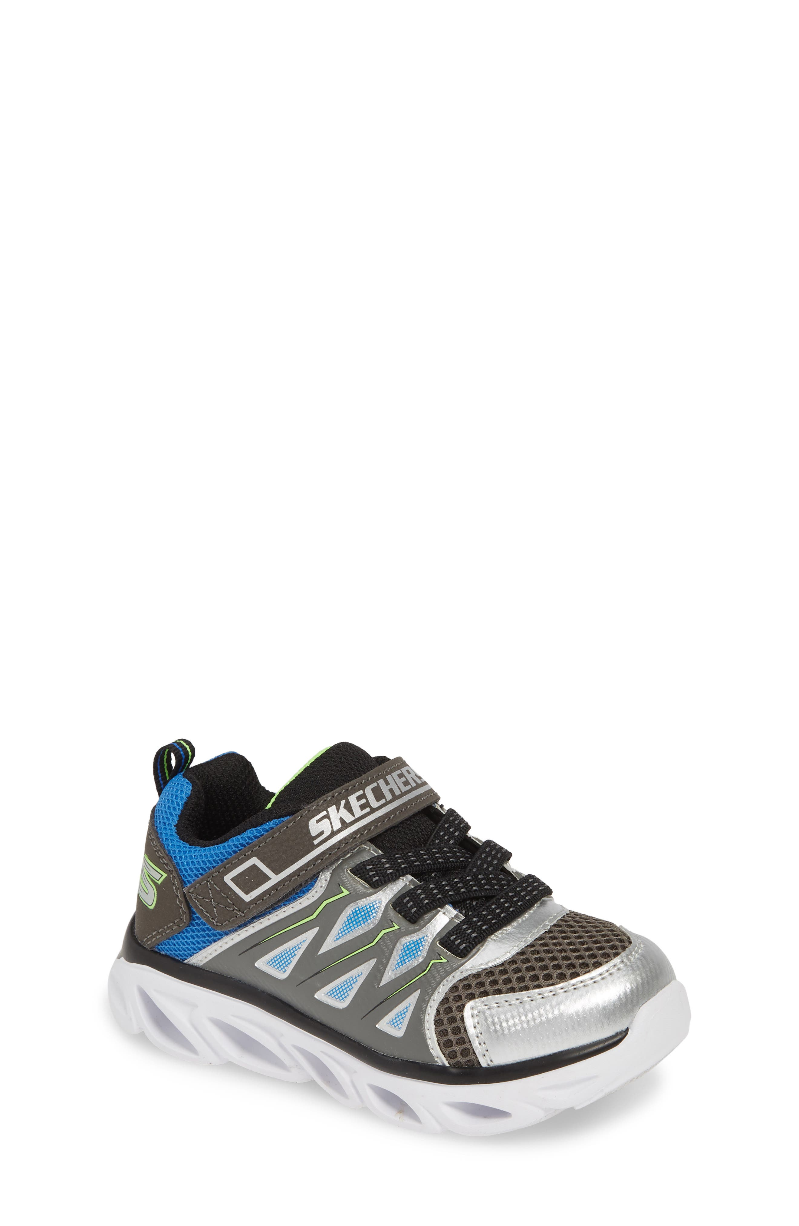 ,                             Hypno-Flash 3.0 Light-Up Sneakers,                             Main thumbnail 1, color,                             SILVER/ BLUE