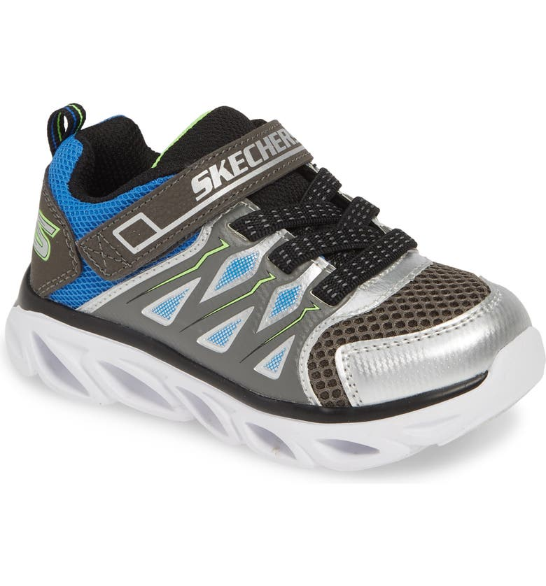 SKECHERS Hypno-Flash 3.0 Light-Up Sneakers, Main, color, SILVER/ BLUE