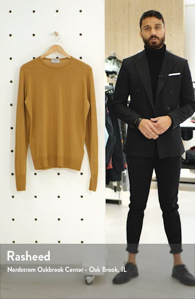 'Marcus' Easy Fit Crewneck Wool Sweater, sales video thumbnail